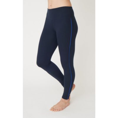 Sustainable, navy and blue, bamboo yoga leggings from Asquith.