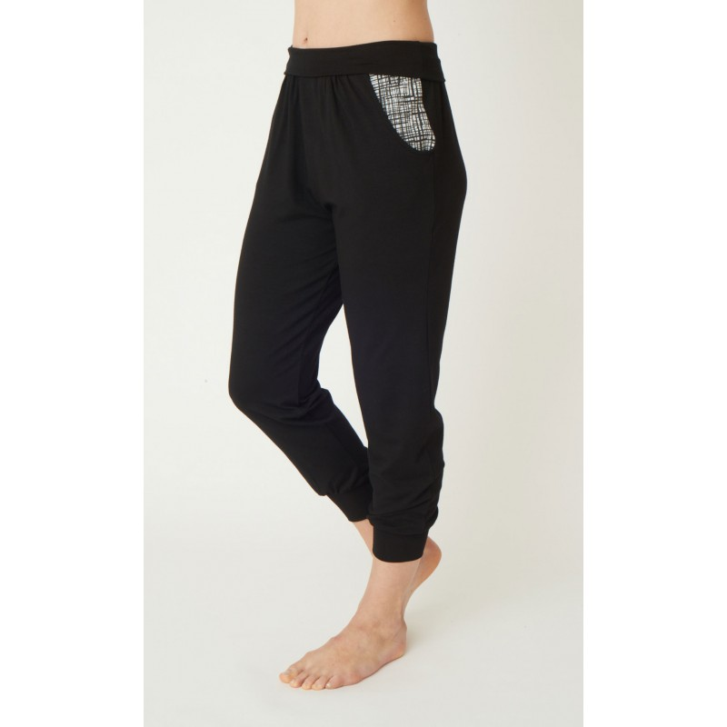 Bamboo yoga harem pants by Asquith