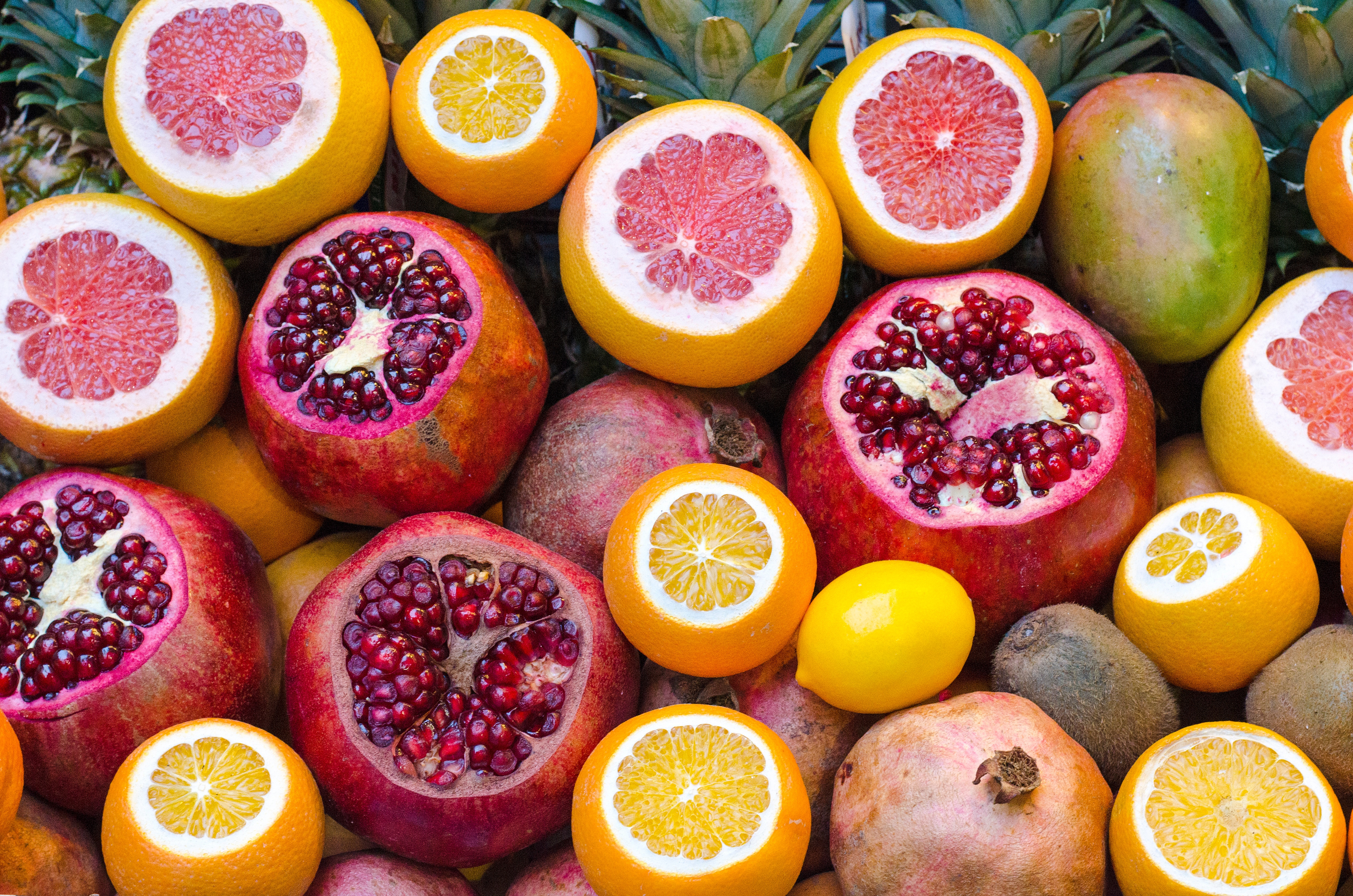 Oranges, Pineapple and Pomegranate