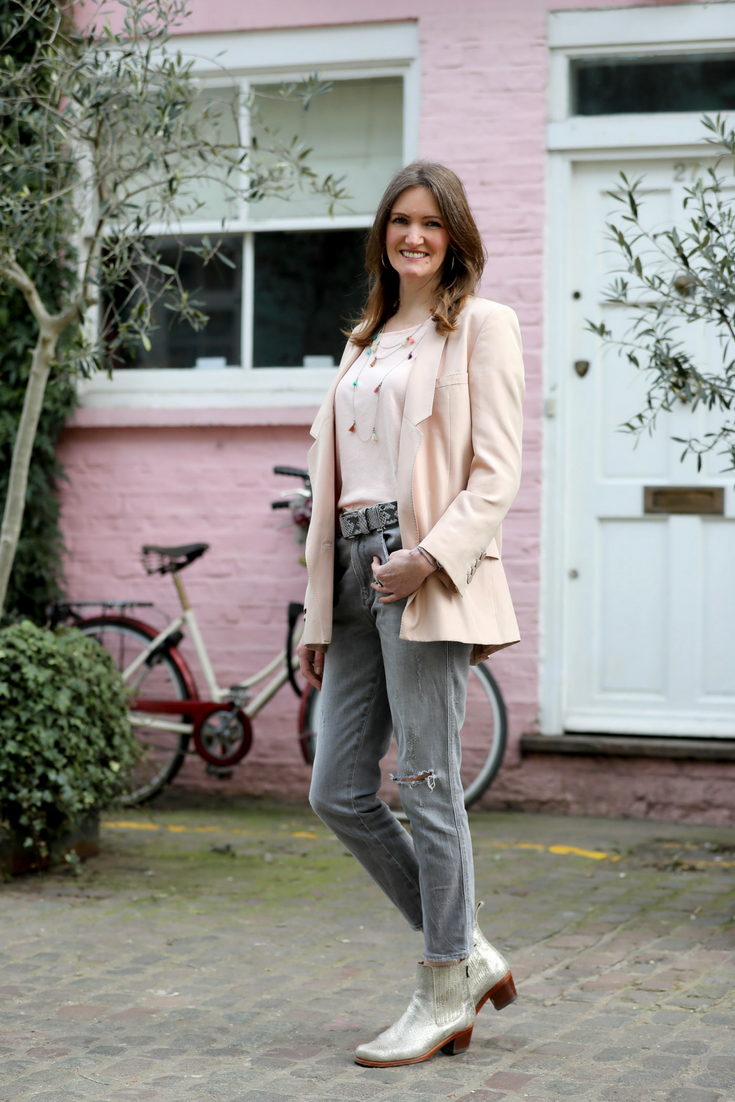 Alice Asquith wearing Asquith organic yoga harem pants