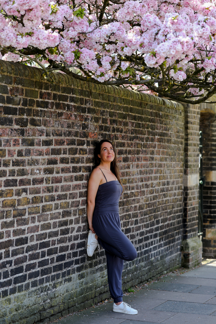 Lucy Sherwood founder of Rock & Raw in an Asquith jumpsuit