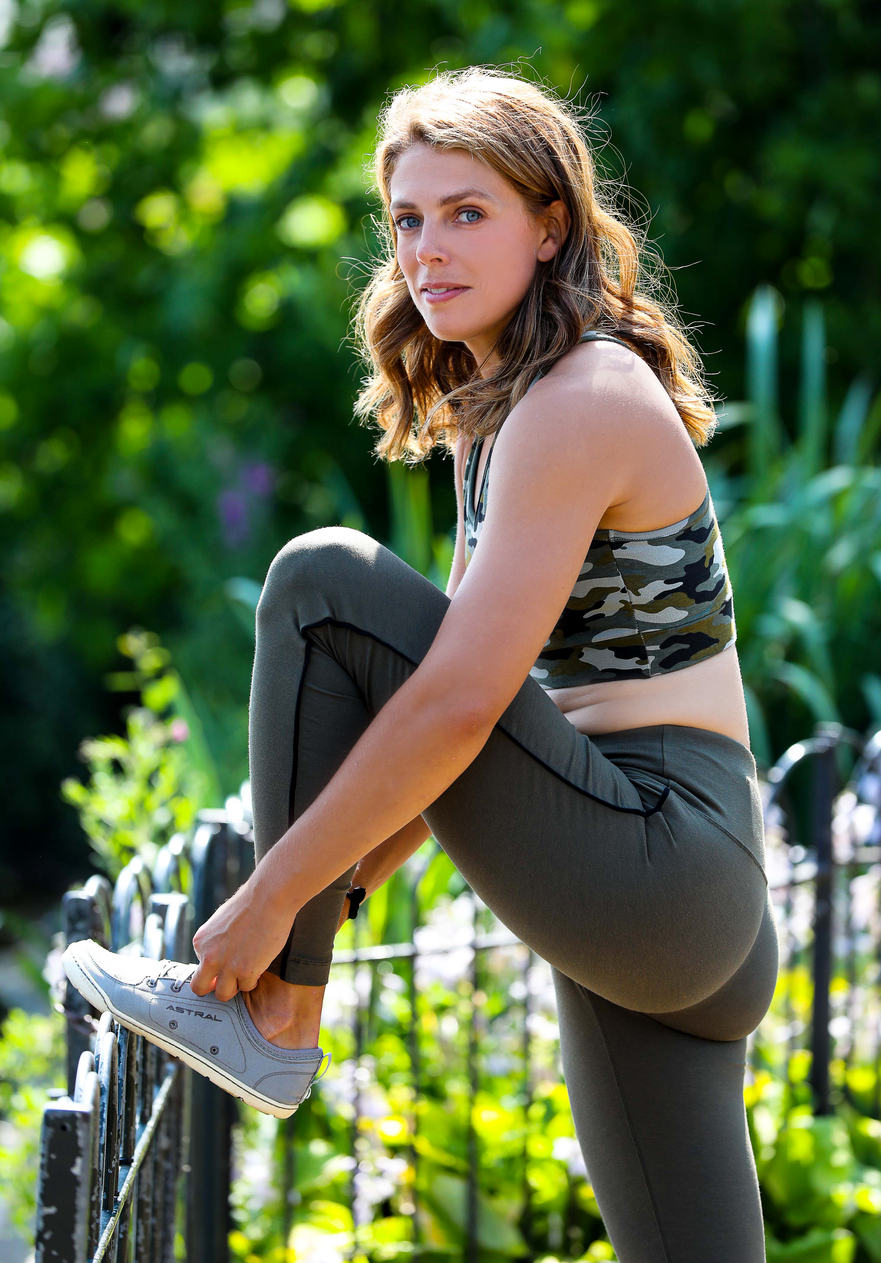 0b16d3eea2 Megan Hine wearing Asquith eco-friendly activewear in Hyde Park
